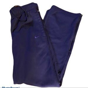 Nike purple therma-fit drawstrings sweatpants